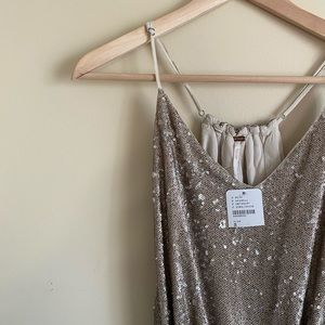 NWT Free People Sequin Jumpsuit
